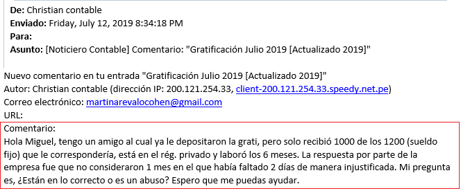 Error Gratificacion Julio