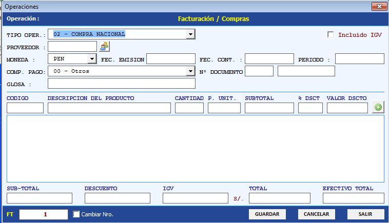 control inventario