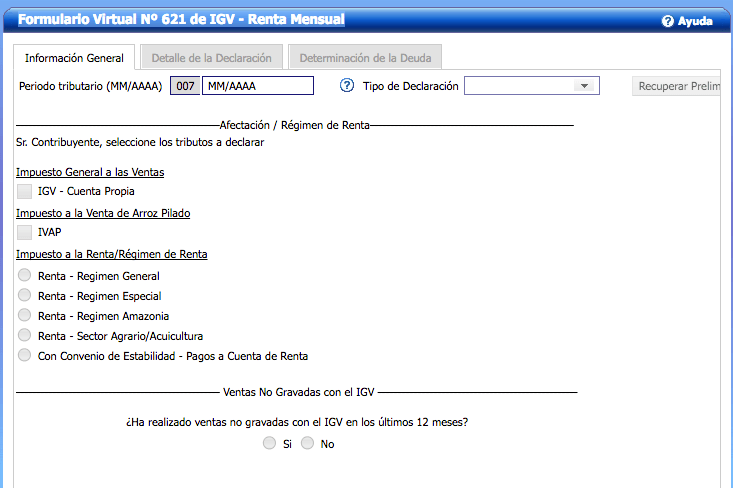 formulario virtual 621