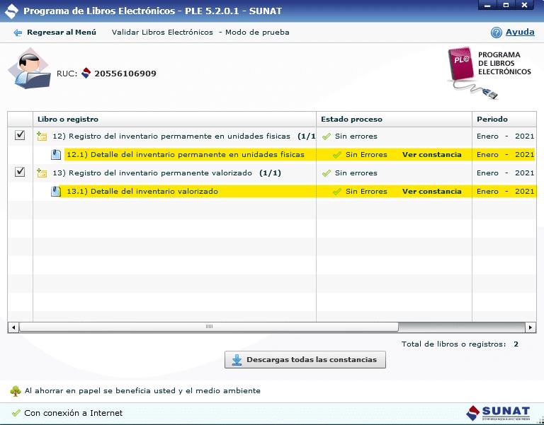 Registro de Inventario Permanente Valorizado Electronico