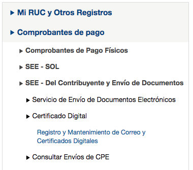 clave sol Certificado Digital Sunat