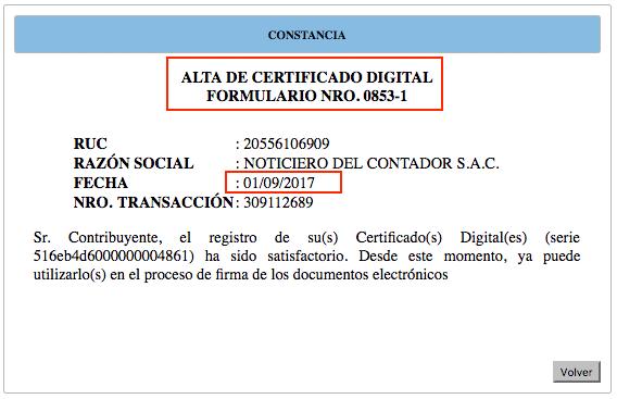 constancia de alta de certificado digital