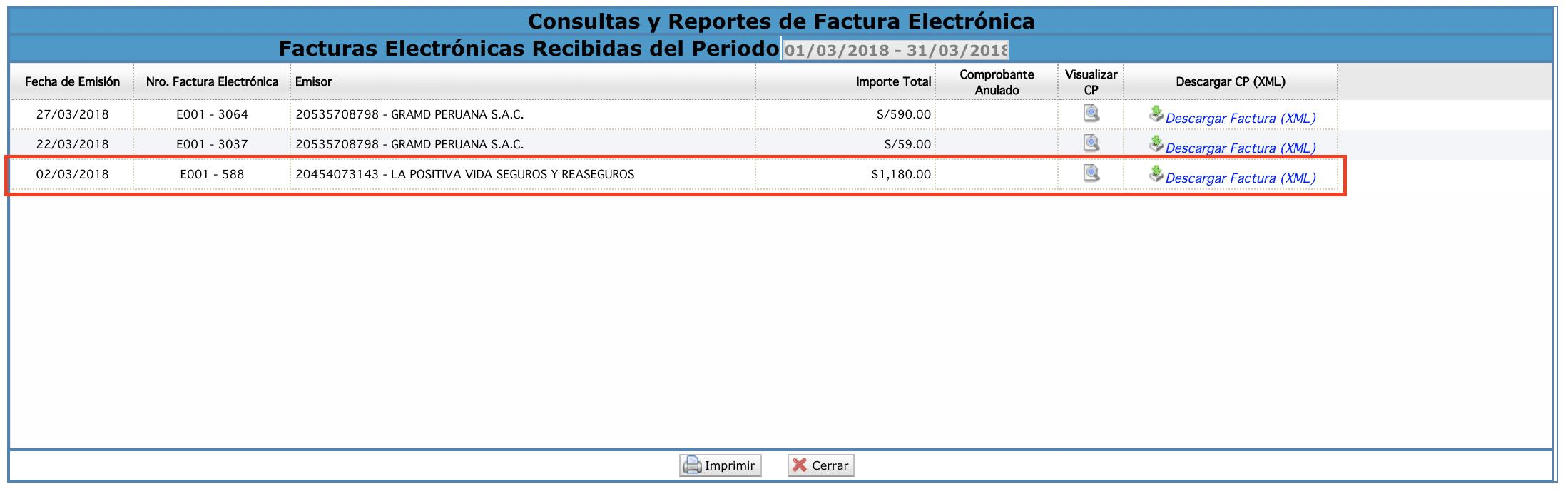 consultas y reportes de facturacion electronica