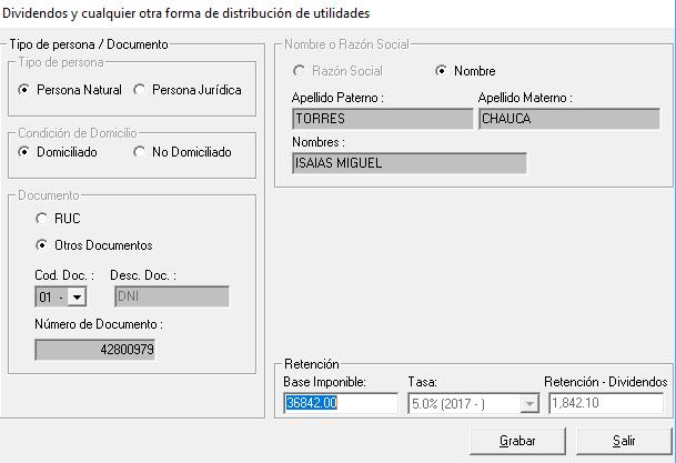 Pago de Dividendos-PDT 617