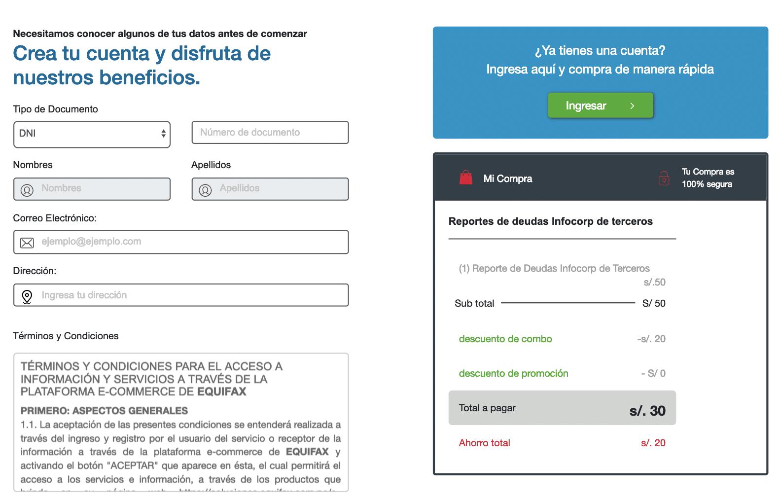 reporte de infocorp-equifax