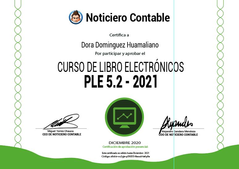 Certificado Taller Libros Electronicos 2021