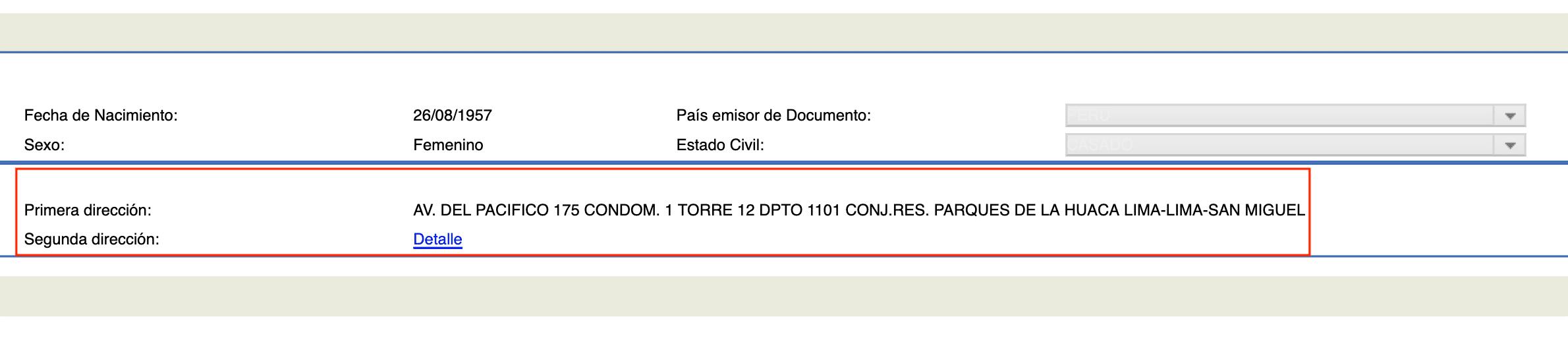 T-Registro Segunda Direccion