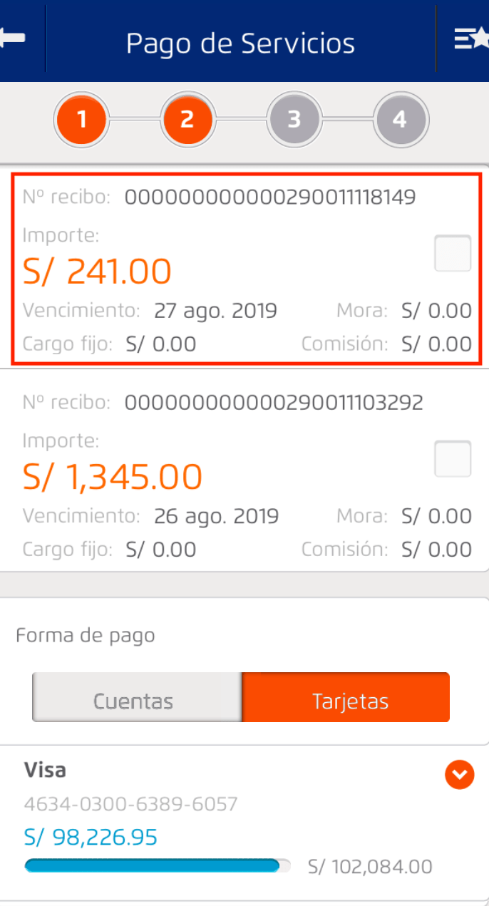 Pago mediante formulario virtual 1668