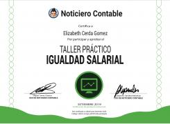 Certificado Igualdad Salarial