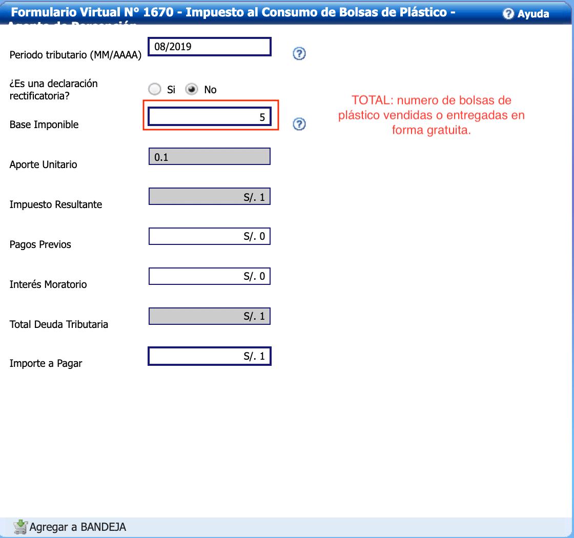 Llenado del Formulario Virtual 1670