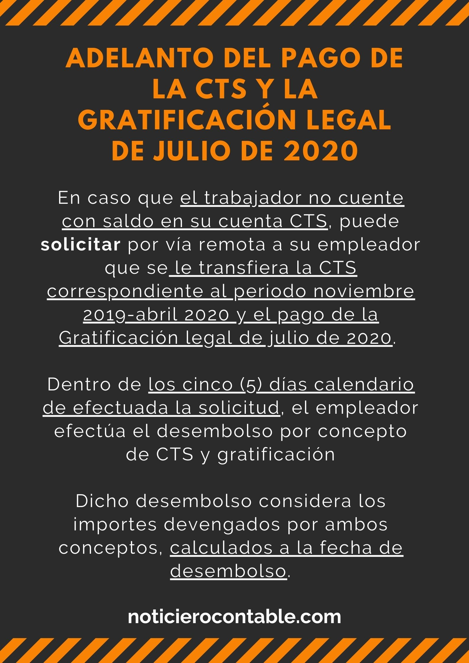 Adelanto del pago de la CTS y la Gratificacion