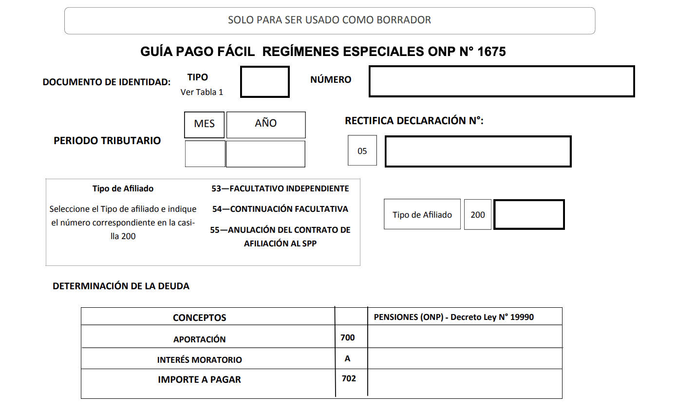 Guia Pago Facil 1675