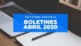 Modelos Boletines Abril 2020