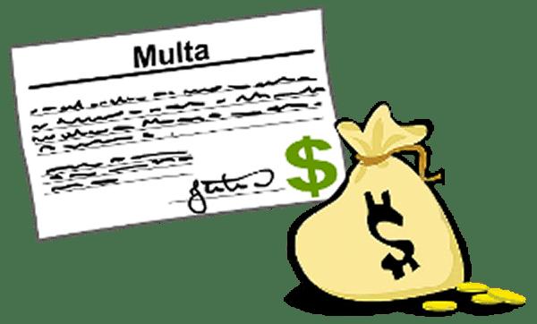 pago de multas