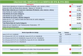 Calculo Renta Cuarta-Quinta Categoria 2021
