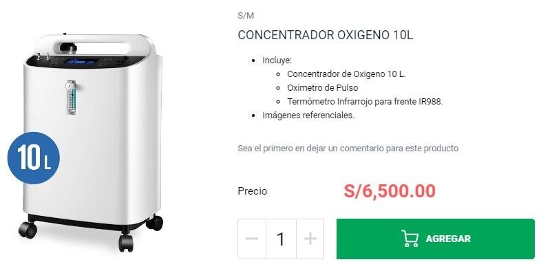condensador de oxigeno