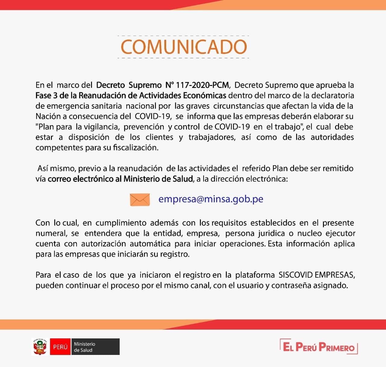 Registrar Plan de Vigilancia Covid-19
