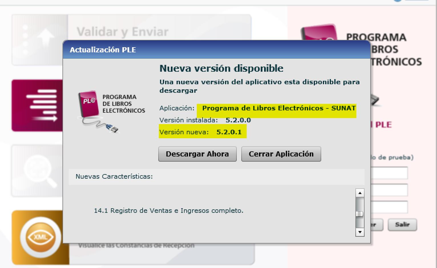 ultima version del PLE 5.2 2021