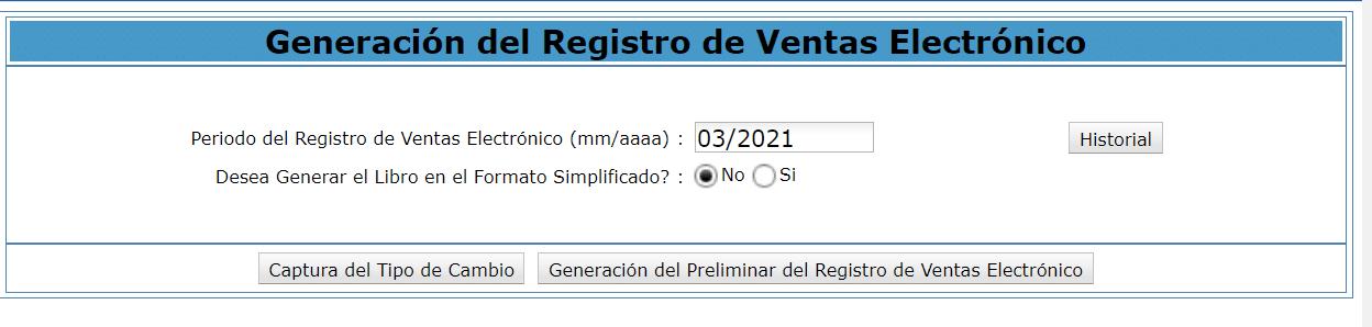 Registro de ventas electronico SLE PORTAL