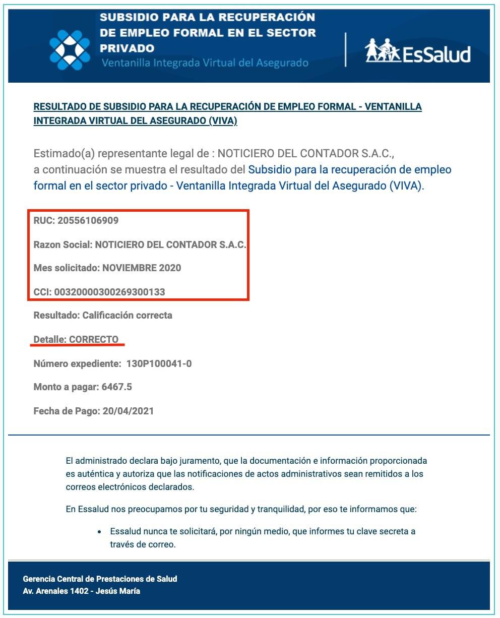 solicitud del subsidio para recuperar el empleo formal