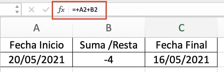 sumar y restar fechas en Excel